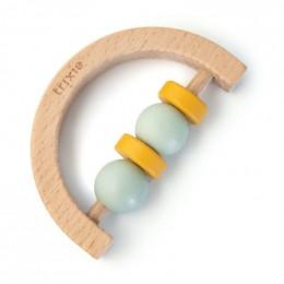 Hochet demi-cercle en bois - Mint yellow