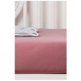 Drap Housse en Coton Bio pour lit bébé - 60x120 cm - Bois de rose