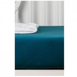 Drap Housse en Coton Bio pour lit bébé - 60x120 cm - Bleu nuit