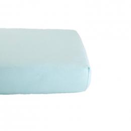 Drap Housse en Coton Bio pour lit bébé - 70x140 cm - Bleu ciel
