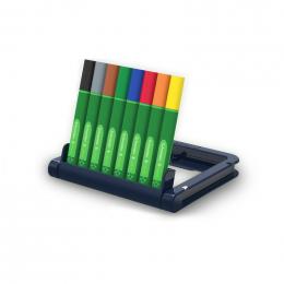 Minis marqueurs 0,4 mm Link It Bio 8 couleurs - à partir de 3 ans