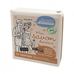 Savon douceur BIO - Argile rouge et bois de Provence - 100 g