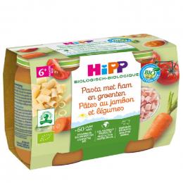 Pâtes au jambon et légumes Bio dès 6 mois 2 x 190 g
