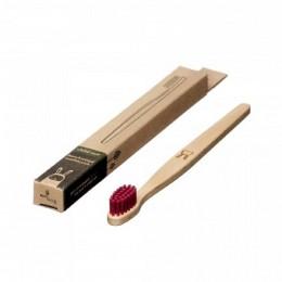 Brosse à dent en bois Enfant - Lapin - Magenta