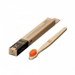 Brosse à dent en bois Enfant - Lapin - Orange