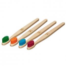 Brosse à dent en bois Enfant - Lapin - Turquoise