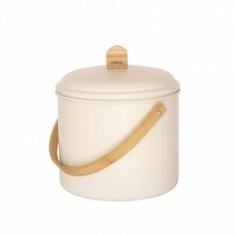 Seau d'intérieur à compost - acier et bambou - 7 l