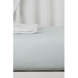 Drap Housse en Coton Bio pour lit bébé - 70x140 cm - Gris perle