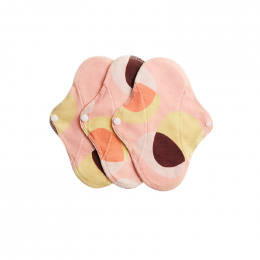 3 serviettes hygiéniques lavables - coton BIO - MINI - Pink Hoop