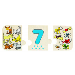 """Puzzle + mémo """"compter et ranger"""" - à partir de 3 ans"""