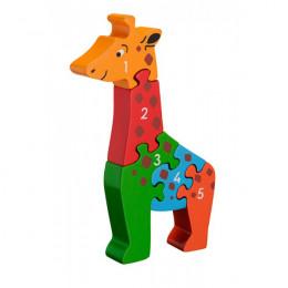 Houten puzzel met Giraf van 1 tot 5