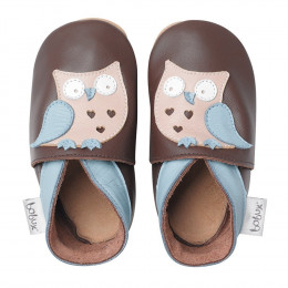 Kinderslofjes - Soft Sole - Giants - Chocolate Owl