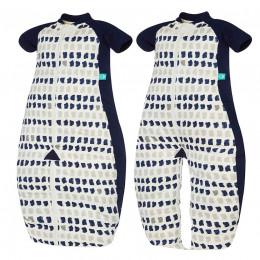 Pyjama-slaapzak licht - Navy paint TOG 1.0 / 2-12 maanden