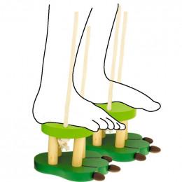 Stelten van hout Giraf