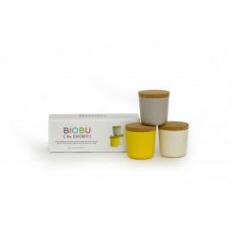 Bokalen set - Bamboe - Lemon/Stone/White