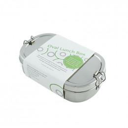 Ovale inox doos met mini doosje - 650 ml
