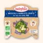 Slaap lekker bordje - Mengeling van groene groenten en rijst (vanaf 12 maanden)