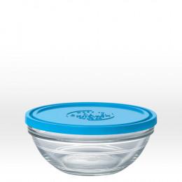 Ronde glazen kom met deksel - 17 cm - 97 cl