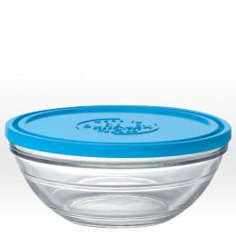 Ronde glazen kom met deksel - 23 cm - 240 cl