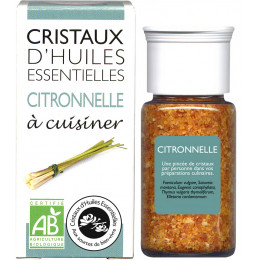 Essentiële olie kristallen - Culinair - Citroengras - 10g
