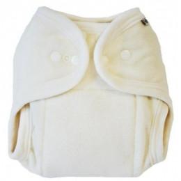 Wasbare luier one size in BIO katoen en polyester - zacht beige