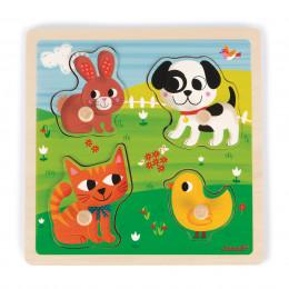 Touch puzzel Mijn eerste dieren - Vanaf 1 jaar