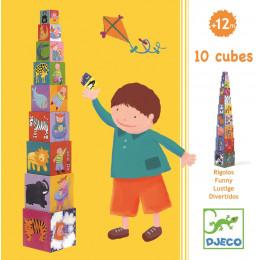 10 Stevige Kinder Stapelblokken - Rigolos