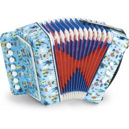 Blauwe accordeon 'Nathalie Lété' - vanaf 3 jaar