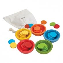 Houten leerspel 'tel en sorteer cups' - vanaf 18 maanden