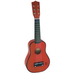 Rode gitaar in hout - vanaf 3 jaar
