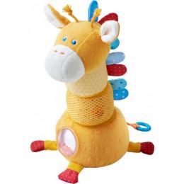 Zacht Stapelfiguur met Speeleffecten - Giraf Vlekje