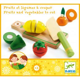 Houten Speelgoed - Groenten- En Fruitsnijplankje