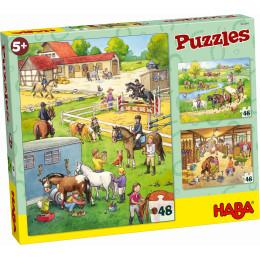 Puzzeldoos van 3 Puzzels - De Manege