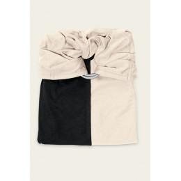 Kleine draagdoek zonder knoop - zwart en ecru zonder pad