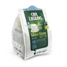 Café Bio et Faire Trade Mano Mano Discret 10 Capsules 100 % compostables