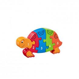 Houten 3D-puzzel - Schildpad 1-5