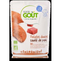 Zoete aardappel geroosterd varkensvlees 190g vanaf 6 maanden