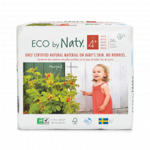 Ecologische wegwerpluiers - Maat 4+ Maxi + - 9 tot 20kg (25 stuks)