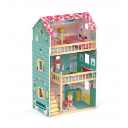 Houten poppenhuis Happy Day vanaf 3 jaar
