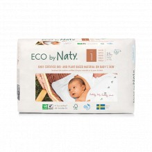 4x Eco luiers - Maat 1 (2-5kg) - 100 stuks