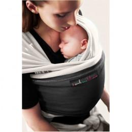 Echarpe porte-bébé - écru et noir