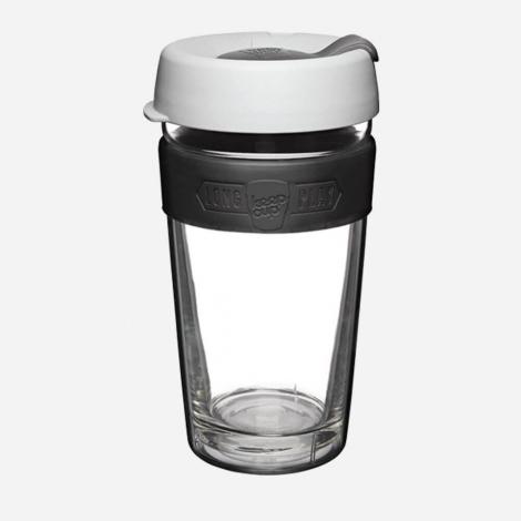 Dubbelwandig glazen beker - Long play - Large 454 ml