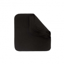 Flanel wasbare doekjes - Zwart - Set van 12