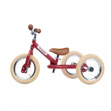 Trybike steel loopfiets 2in1 vintage red - driewieler