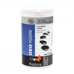 Deodorant poeder op basis van aluin van potassium