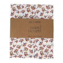 Sac à tartines - 35 x 40 cm - Fleurs