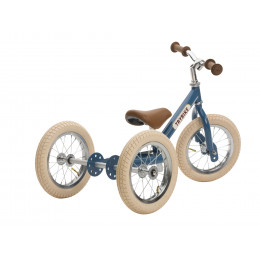 Trybike steel loopfiets 2in1 vintage blue - driewieler