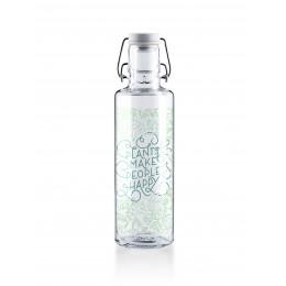 Glazen fles - 600 ml - Plants make people happy