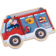 Inlegpuzzle - Brandweerauto  - Vanaf 1 jaar