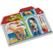 Inlegpuzzle - In de paardenstal  - Vanaf 1 jaar